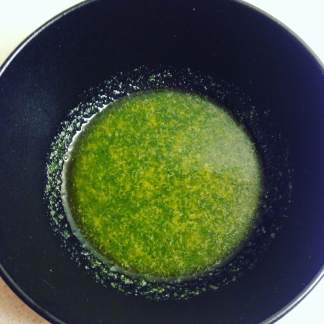 melted garlic butter