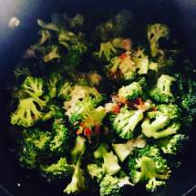 broc in pot
