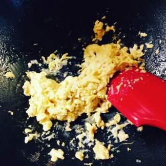 egg in wok